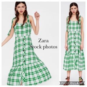 Zara Plaid dress with button detail : Medium